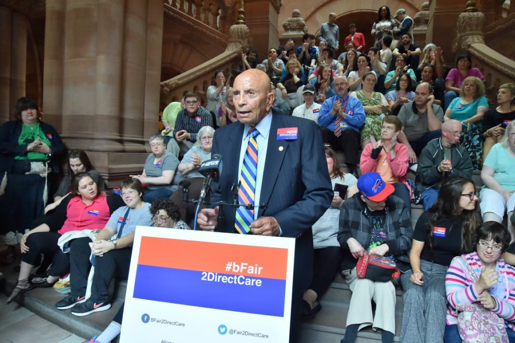 Addressing the NY State Assembly on June 8, 2016